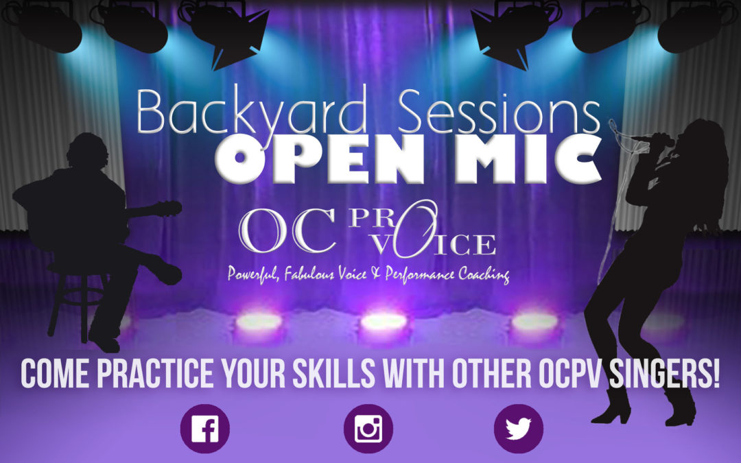 Backyard Sessions OPEN MIC!  October 1, 2016
