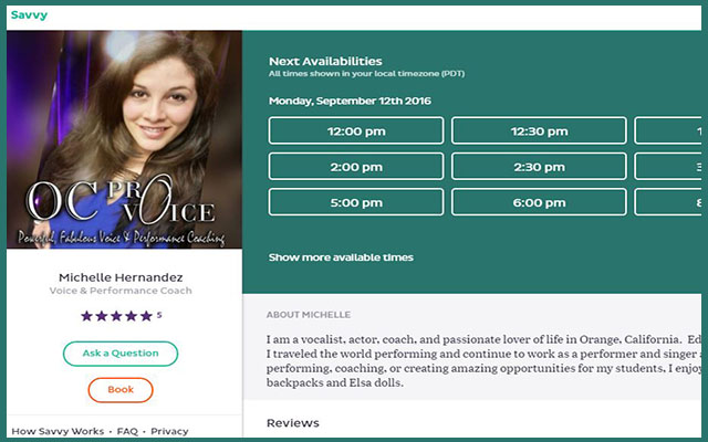 How to Schedule Lessons with OC ProVoice using Savvy!