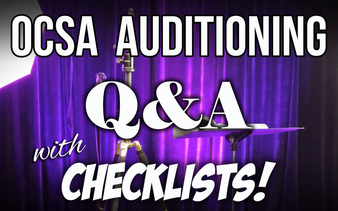 OCSA Auditioning – 2017-18 school year