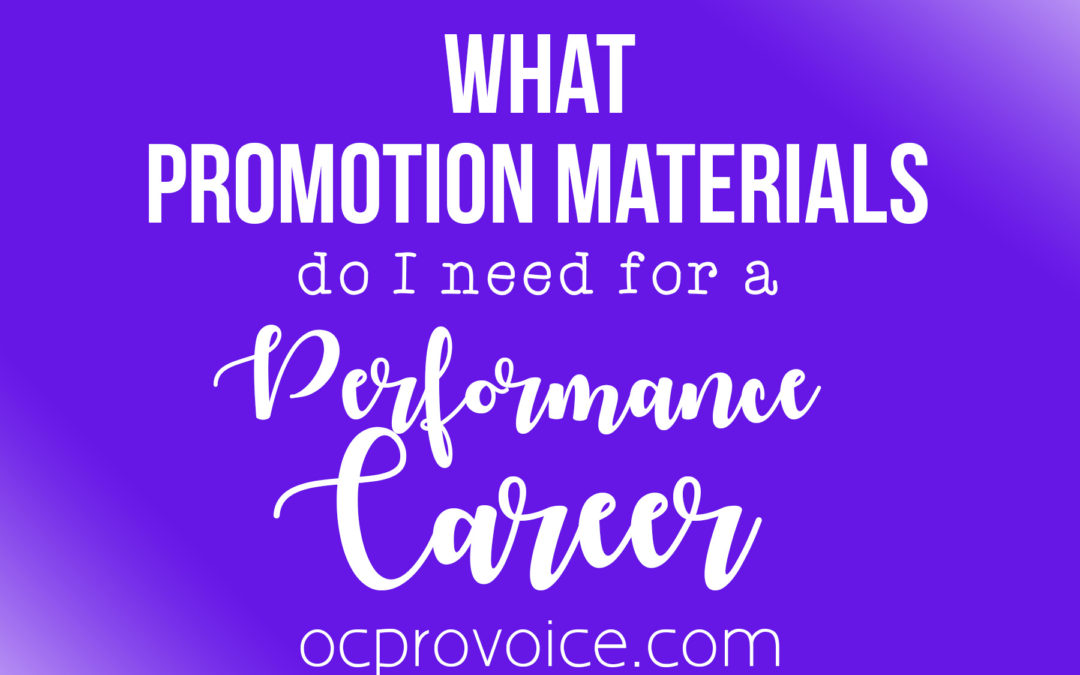 Promotion & Marketing Checklist for Singers and Actors