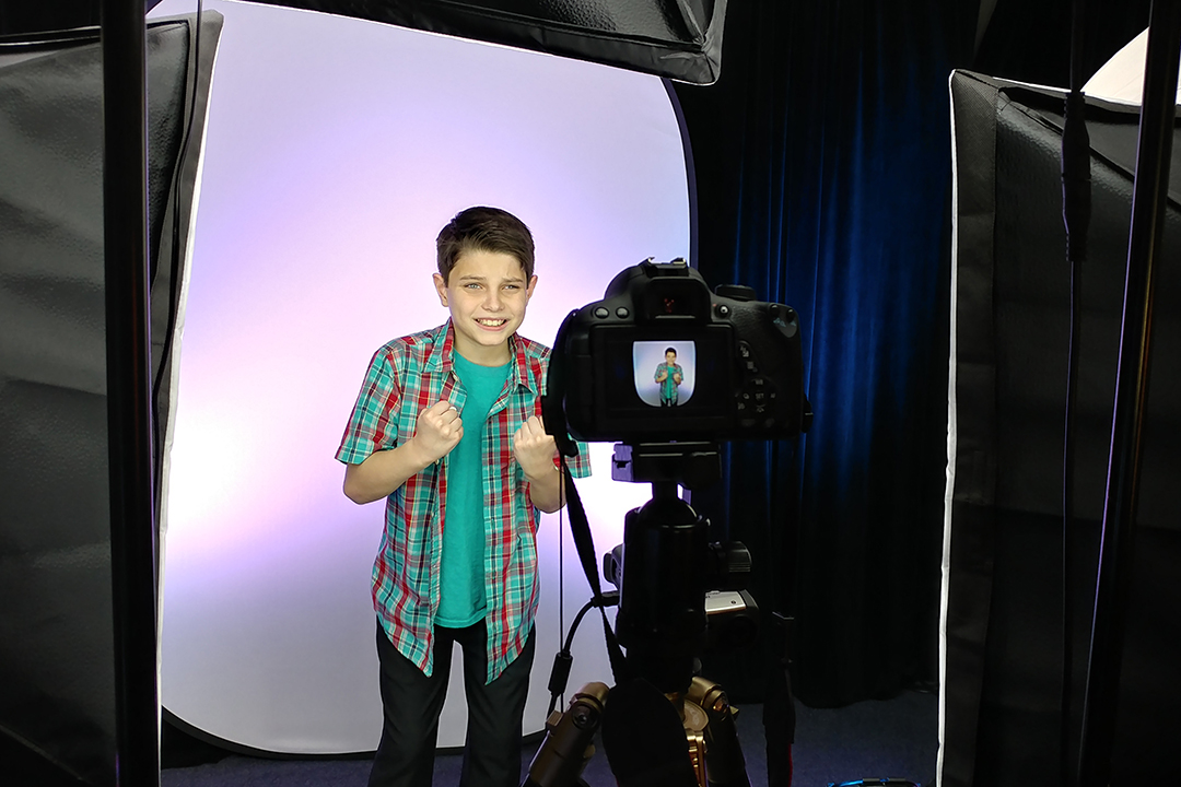 Ethan - giving us passion and committment in his OCSA audition pre-screen!