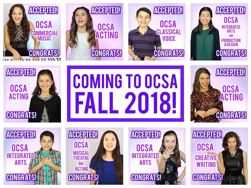 All OCPV OCSA audition applicants 2018-19! Slaying it!